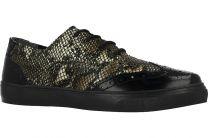 Текстильная обувь Las Espadrillas 4595-27 унисекс   (коричневый/чёрный)