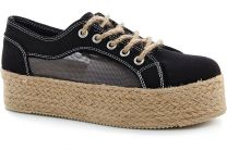 Women's sneakers Las Espadrillas Black liner 5142-27 Sh