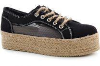 Women's sneakers Las Espadrillas Black liner 5142-27 Sh