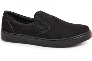 Mens shoes Las Espadrillas Black Nubuk 6217-27Sl Black monochrome