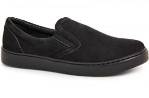 Мужская обувь Las Espadrillas Black Nubuk 6217-27Sl Черные монохромные