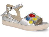 Женские сандалии Las Espadrillas Dg Fashion 009-602-14    (серебряный)