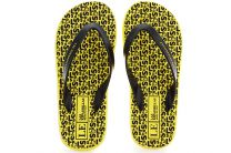Flip flops Las Espadrillas F6574-2127 Made in Italy unisex (black/yellow)