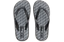 Slippers Las Espadrillas F6574-2713 Made in Italy unisex (black/white)