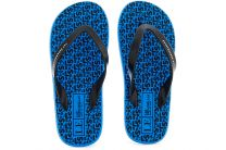 Flip flops Las Espadrillas F6574-4227 Made in Italy, unisex (blue/black)