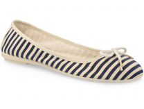 Baleriny Las Espadrillas FV7978-8918 Made in Spain (beżowy/niebieski)