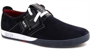 Летние нубуковые туфли Forester 1632-329 Син Нуб-R