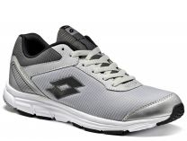Lotto SPEEDRIDE running shoes 500 II SILVER METAL/BLACKS9936 (Black,Gray)
