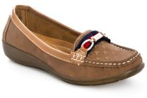 Women's moccasins Raxmax FS3603-2 (brown)