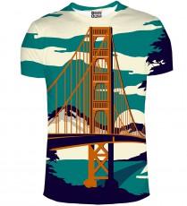Mr.gugu And Miss Go Golden Bridge T-Shirt 1041-1343