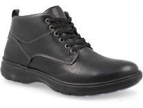 Чоловічі черевики Forester Komfort 4823-23Fo Чорна шкіра