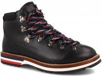 Męskie buty MonCler PEAK Vibram Black Leather Made in Italy