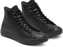 Мужские кеды Converse Chuck Taylor All Star Winter Water-Repellent High Top 164923C Black Leather