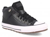 Мужские кеды Converse Chuck Taylor Leather Mid Black 168865C