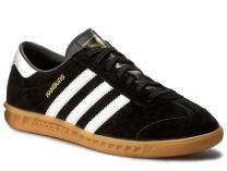 Мужские кроссовки Adidas Originals Hamburg S76696   (чёрный)