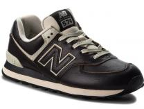 Mens sneakers New Balance ML574LPK Black leather