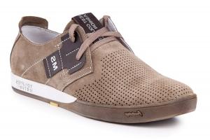 Мужские летние туфли Forester 1632-380 беж нуб-R