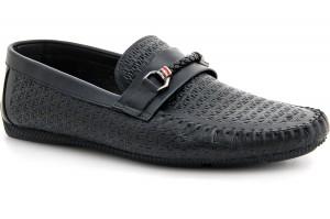 Мужские мокасины Forester 8124-27 Black premium leather