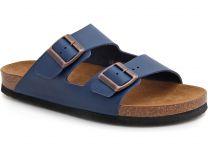 Мужские сандалии Las Espadrillas 06-0189-004 унисекс   (бордовый/синий)