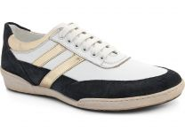Туфли Subway 203-00032 унисекс   (чёрный/белый)