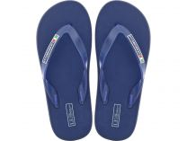 Flip flops Las Espadrillas 7201-89 Made in Italy (black/blue)