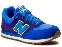 Кроссовки New Balance KL574ESG  (тёмно-синий/синий)