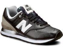 Женские кроссовки New Balance WL574RAA    (чёрный/серый)