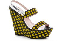Wedge Nine West 2010-2105-21 (black/yellow)