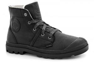 Зимние ботинки Palladium Pallabrouse Wps 93475-001 Черная натуральная кожа