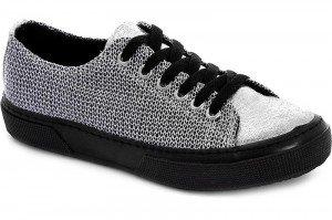 Silver sneakers Las Espadrillas 1518-14SH