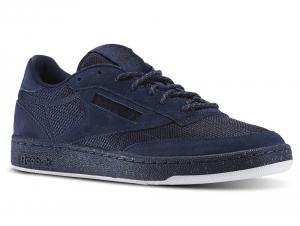 Мужская спортивная обувь Reebok Club C 85 St Bd1564    (тёмно-синий)