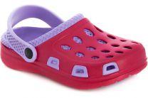 Кроксы Mini 203080-3 унисекс   (фиолетовый/красный)