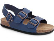 Мужские сандалии Las Espadrillas 06-0190-003   (синий)
