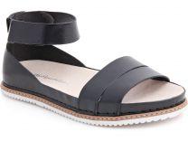 Женские сандалии Las Espadrillas 07-0272-001   (чёрный)