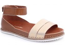 Sandals Las Espadrillas 07-0272-003 (Golden/brown)