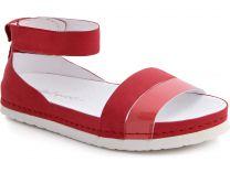 Sandals Las Espadrillas 07-0275-003 Red