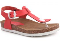 Sandals Las Espadrillas 07-0278-004 (red)