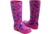 Сапоги Crocs Wellie Polka Dot Rain Boot 15374 Fuchsia / Ultraviolet