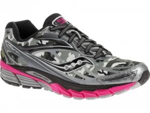 Текстильная обувь Saucony Ride 8 Gore-Tex 10286-1 унисекс   (розовый/чёрный/серый)