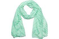 Шарфы Las Espadrillas 110713 унисекс   (зеленый/белый)