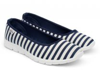 Sports ballerinas Las Espadrillas Motion Foam 22634-8913 Navy striped