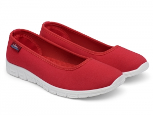 Спортивные балетки Las Espadrillas Motion Foam 22635-47 Red Canvas
