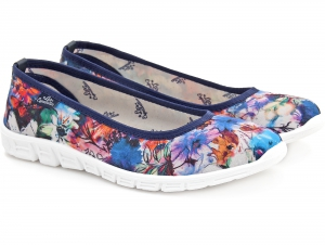 Sporty ballerinas Las Espadrillas Multicolor Motion Foam 22635-8922