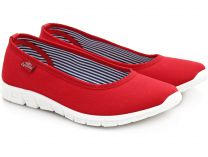 Спортивні балетки Las Espadrillas Red Ballet Motion Foam 22636-47Sp