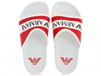 Тапочки Armani 4519-13  (красный/белый)