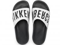 Тапочки Dirk Bikkembergs Swimm BKE 108367-2713 Made in Italy  (чёрный/белый)
