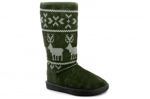 Угги Forester White Deer 138377-11 Зеленые