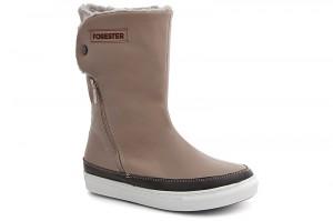 Утеплені чобітки Forester 8530-18Sk Бежева шкіра