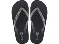 Men's flip flops Las Espadrillas 7201-27 Made in Italy (black)