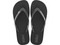 Men's flip flops Las Espadrillas 7223-27 Made in Italy (black)